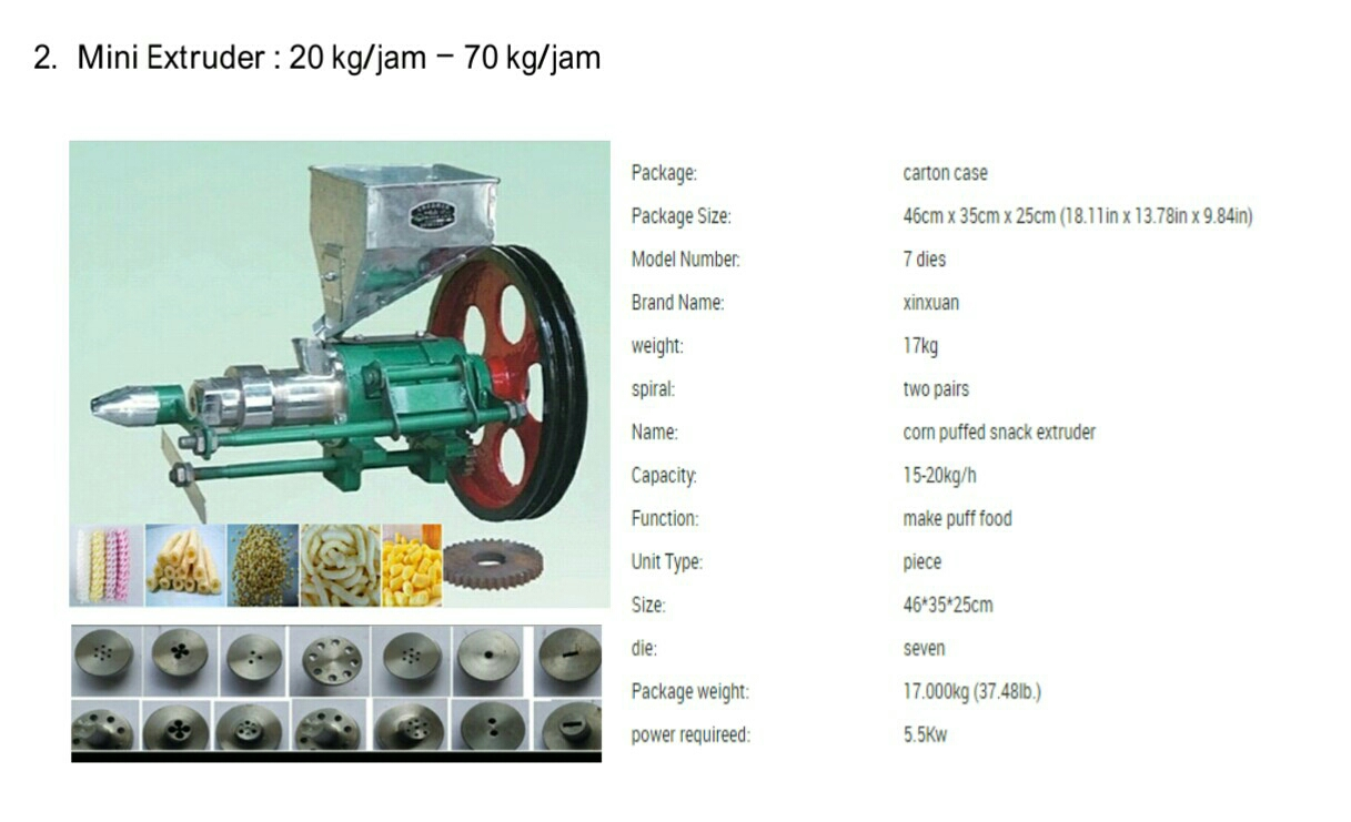 mesin Extruder mini